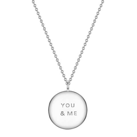 Clara Copenhagen Silver You & Me Pendant Necklace