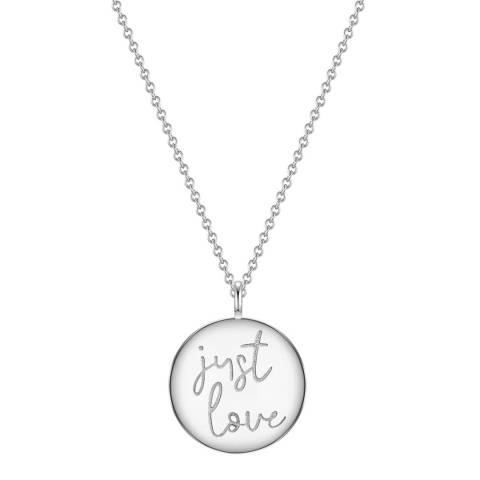 Clara Copenhagen Silver Just Love Pendant Necklace