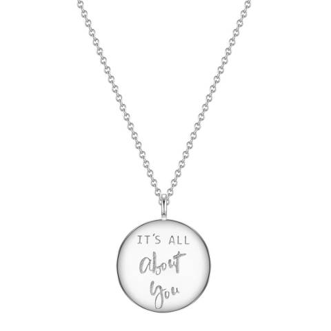 Clara Copenhagen Silver It's All About You Pendant Necklace
