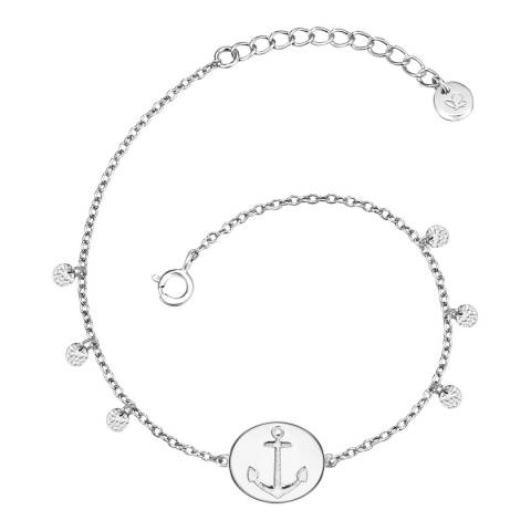 Clara Copenhagen Silver Anchor Pendant Bracelet