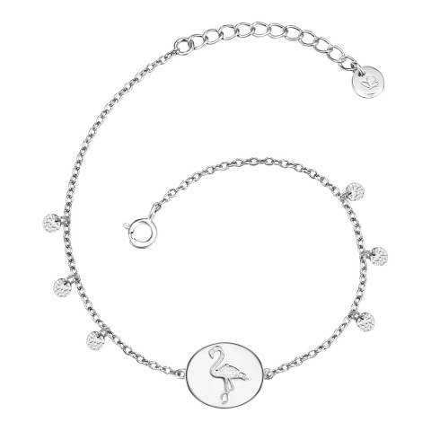 Clara Copenhagen Silver Flamingo Pendant Bracelet