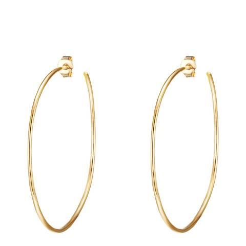 Clara Copenhagen Yellow Gold Hoop Earrings
