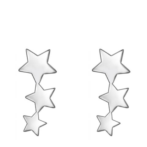 Clara Copenhagen Silver Three Star Stud Earrings