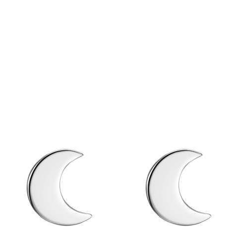 Clara Copenhagen Silver Moon Stud Earrings