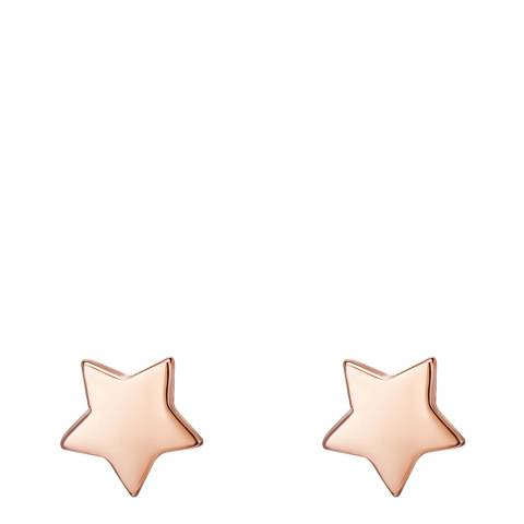 Clara Copenhagen Rose Gold Star Stud Earrings