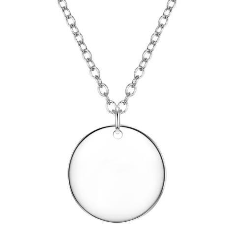 Clara Copenhagen Silver Circle Pendant Necklace