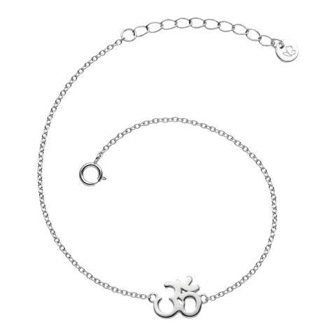 Clara Copenhagen Silver Om Sign Anchor Bracelet