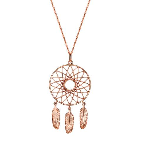 Clara Copenhagen Rose Gold Dreamcatcher Pendant Necklace