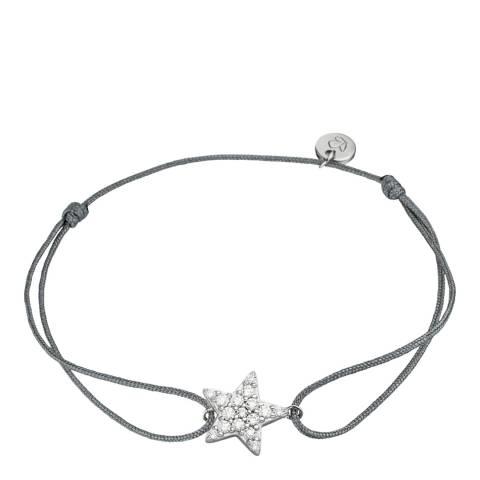 Clara Copenhagen Black Silver Star Textile Bracelet