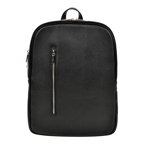 Carla Ferreri Black Leather Backpack