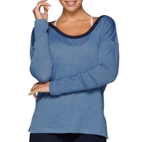 Lorna Jane Blue Don't Look Back Long Sleeve Top