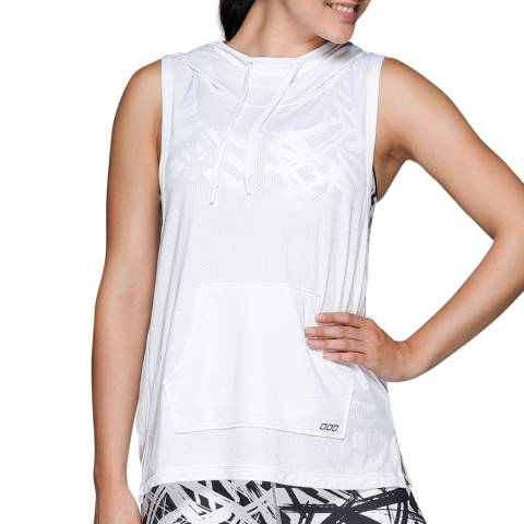 Lorna Jane White Atomic Excel Sleeveless Hoodie