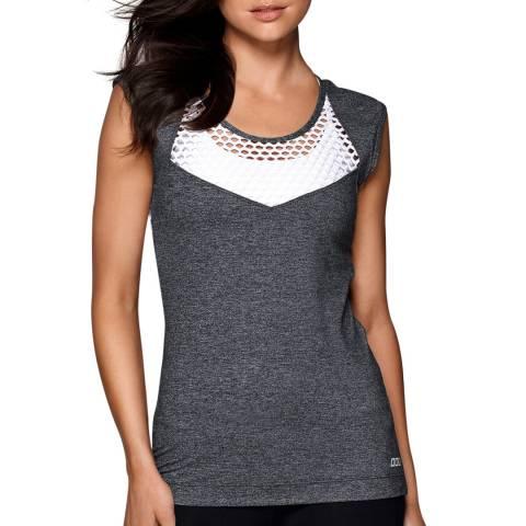 Lorna Jane Grey/White Pixie Excel T-Shirt