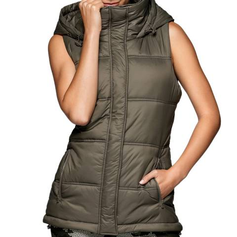 Lorna Jane Khaki Movement Puffa Vest