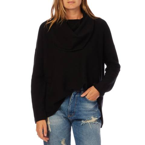 Scott & Scott London Black Beatrice Cashmere Jumper