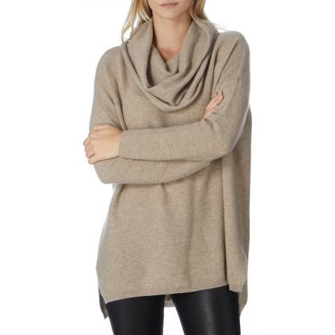 Scott & Scott London Beige Beatrice Cashmere Jumper