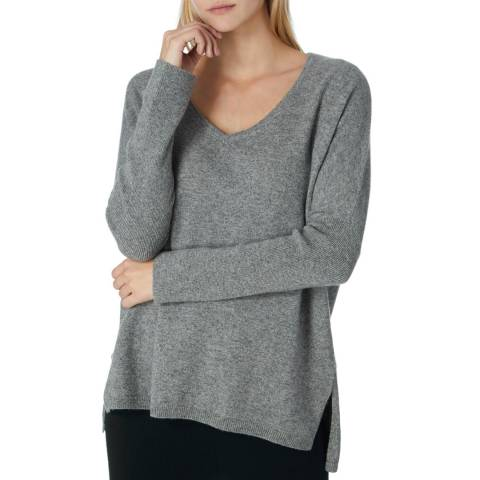 Scott & Scott London Grey Miss Darcey Cashmere Jumper