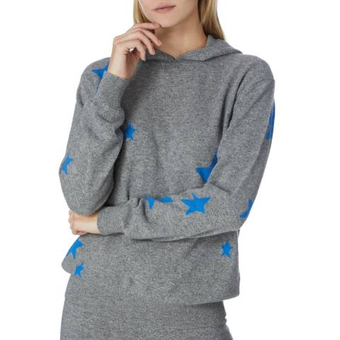 Scott & Scott London Grey Cashmere Starry Eyed Hoody