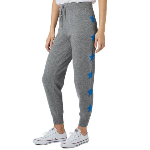 Scott & Scott London Grey/Blue Cashmere Starry Eyed Jogger