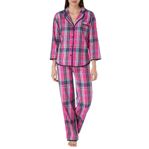 Cottonreal Midnight Pink Super Check and Stripe PJ Set