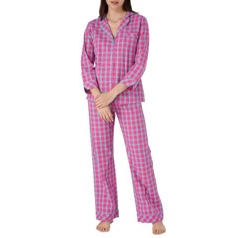 Cottonreal Fuchsia/Turquoise Deluxe Co Lawn Check PJ Set