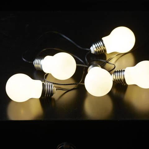 Lighting Editions White Bulb Light chain