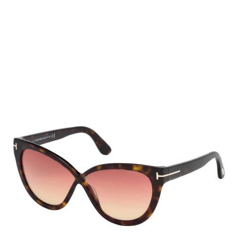 Tom Ford Womens Tortoise Rose Cat Eye Sunglasses 59mm