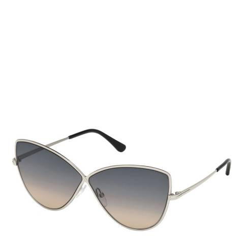 Tom Ford Womens Silver/Grey Cat Eye Sunglasses 65mm