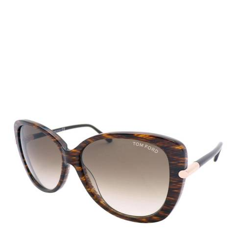Tom Ford Womens Brown Oversize Sunglasses 59mm