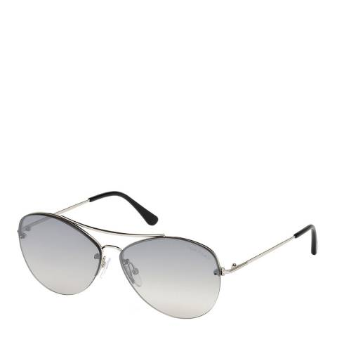 Tom Ford Womens Silver Cat Eye Sunglasses 60mm
