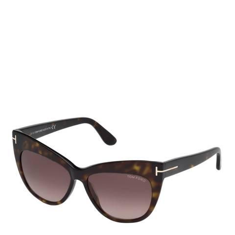 Tom Ford Womens Dark Brown Cat Eye Sunglasses 56mm