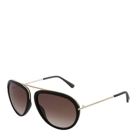 Tom Ford Unisex Gradient Brown Aviator Sunglasses 57mm