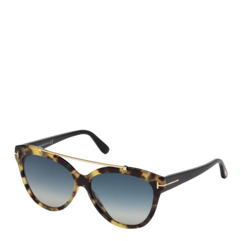 Tom Ford Womens Tortoise Cat Eye Sunglasses 58mm