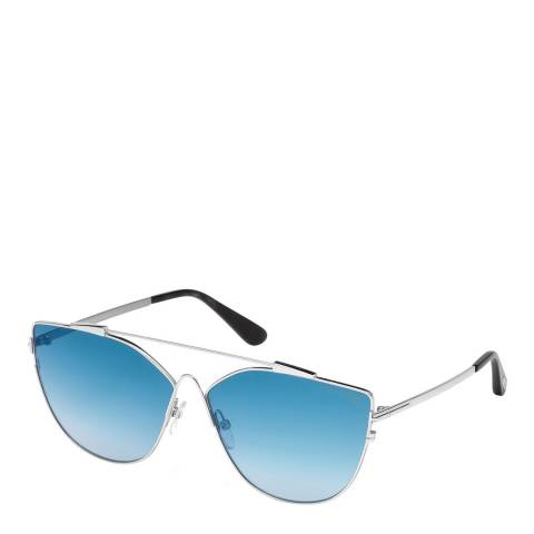 Tom Ford Womens Silver/Blue Cat Eye Tom Ford Sunglasses 64mm