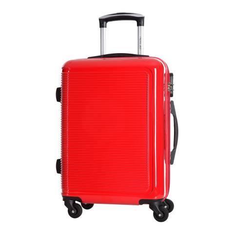 Travel One Red 4 Wheel Maryhill Suitcase 68cm