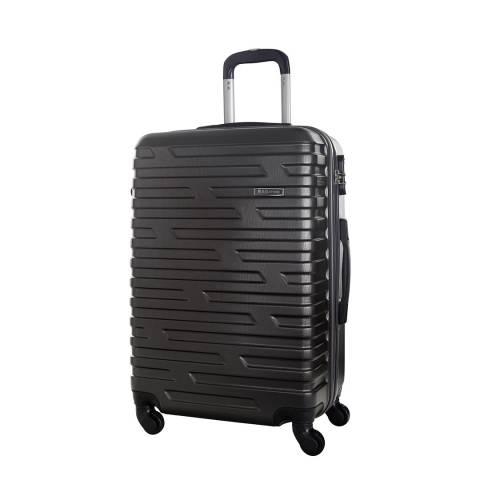 Bagstone Grey 4 Wheel Twister Suitcase 50cm