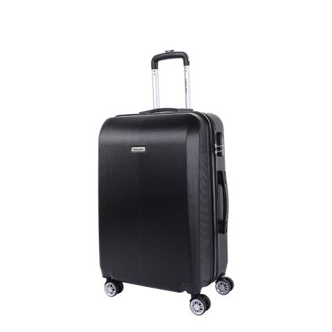 Travel One Black 8 Wheel Walton Suitcase 56cm
