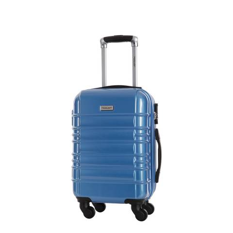 Travel One Blue 4 Wheel Princeton Suitcase 45cm
