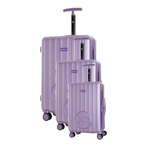 Bagstone Violet 8 Wheel Lucky Suitcase 60cm