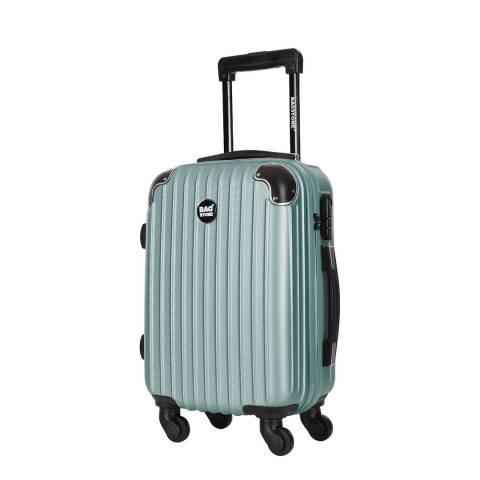Bagstone Grey 4 Wheel America Suitcase 55cm