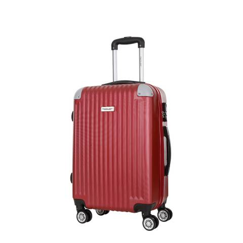 Travel One Burgundy 4 Wheel Tecapa Suitcase 46cm