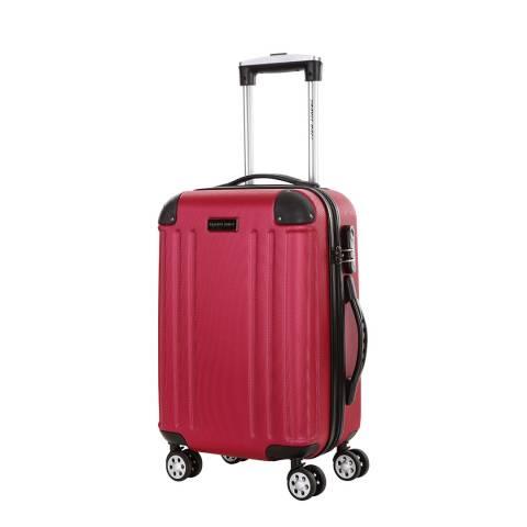 Travel One Fuchsia 4 Wheel Swan Suitcase 46cm