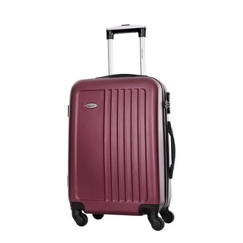 Travel One Burgundy 4 Wheel Seaside Suitcase 50cm