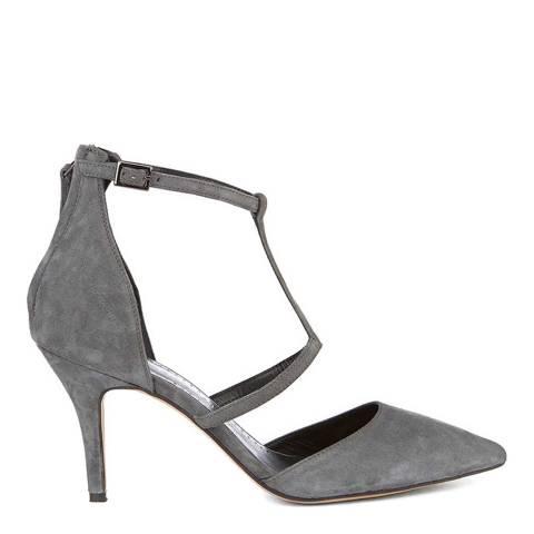 Mint Velvet Grey Nicole Suede Cage Heel