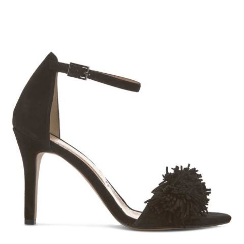 Mint Velvet Black Sara Fringe High Sandal