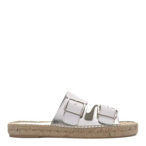 Mint Velvet White Ava Leather Sandal