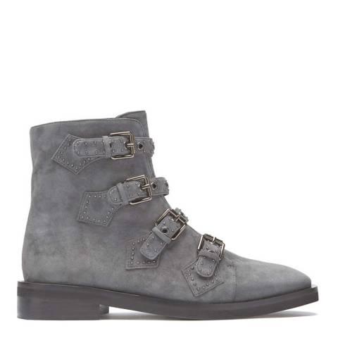 Mint Velvet Grey Vivian Suede Biker Boot