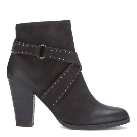 Mint Velvet Black Emery Nubuck Stud Boot