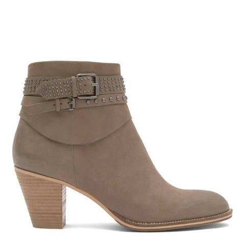 Mint Velvet Taupe Peyton Nubuck Ankle Boot
