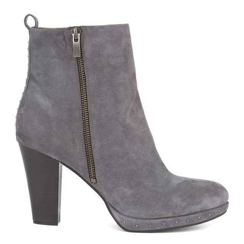Mint Velvet Grey Harper Platform Boot